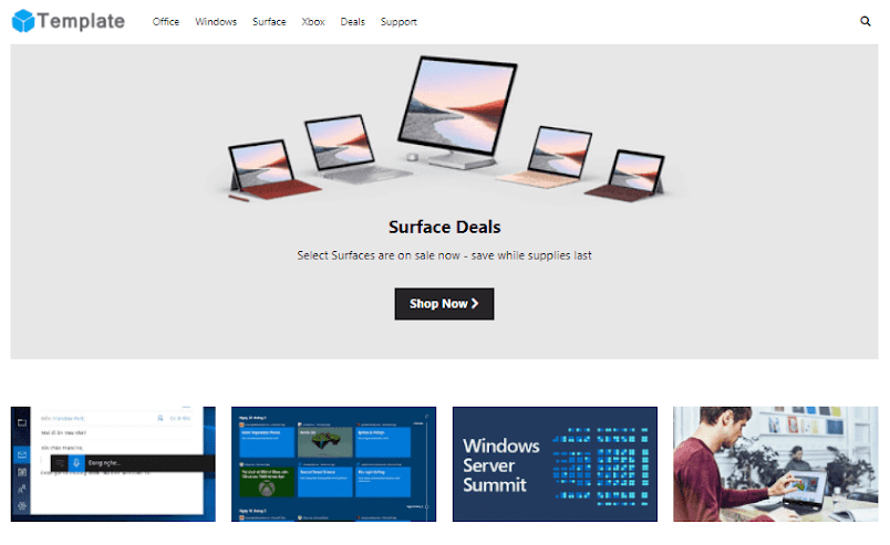 Microsoft Giao diện blogspot tin tức
