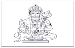 Hanuman Drawing Step by step