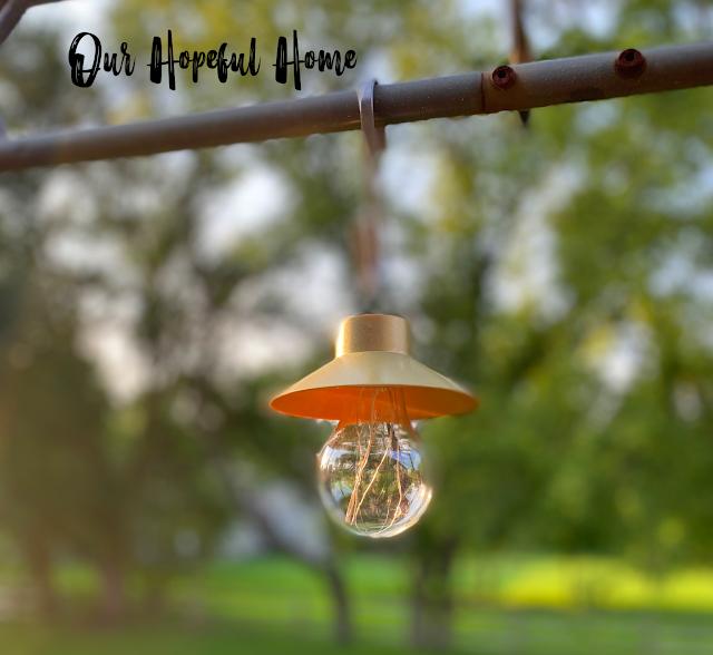 gold Dollar Tree LED hanging lamp