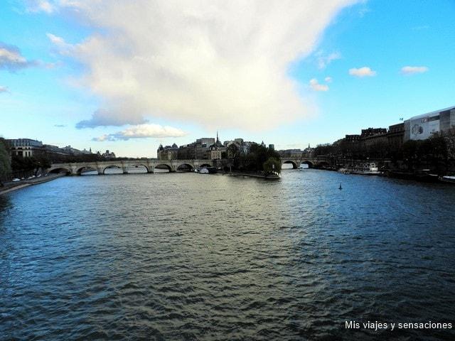 Vistas desde el Pont des Arts, París