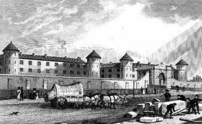 picture-of-prison-with-horse-and-cart-outside-and-men-labouring