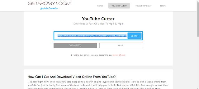 تحميل جزء من الفيديو على اليوتيوب بدون برامج