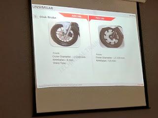 ukuran disc brake adv 150 vs pcx