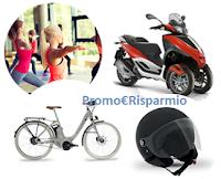 Logo  ''Metti in moto il divertimento'' e vinci 38 Wi-Bike, 1 Scooter Piaggio e 31 caschi Style e premio sicuro!