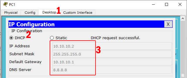 mendapatkan IP DHCP dari Router