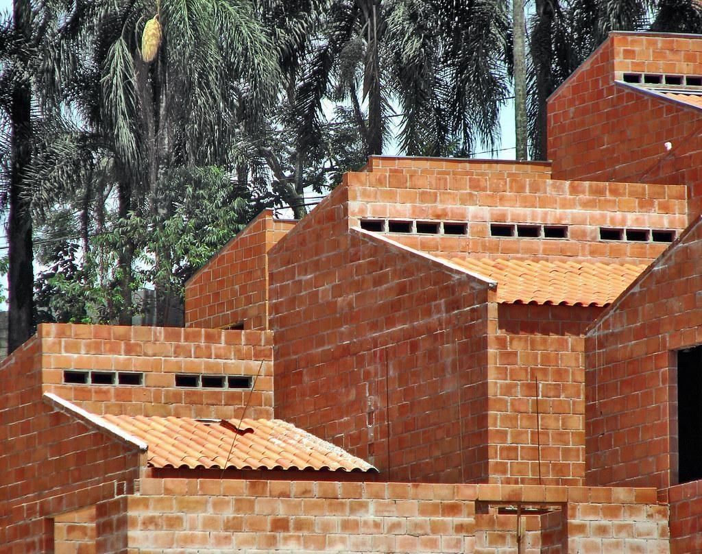 Construção feita com alvenaria estrutural