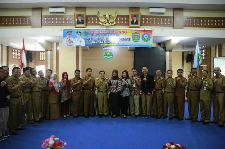 Wali Kota Sungaipenuh AJB Sambut Tim Penilai Verifikasi