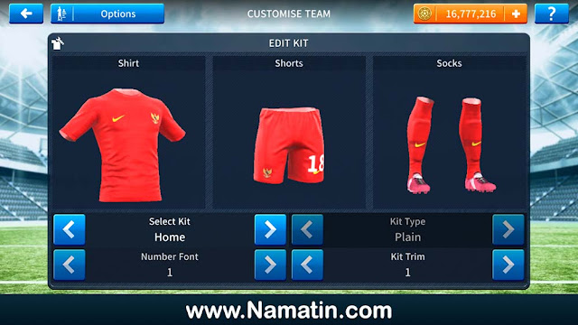 Kit Dream League Soccer Timnas Indonesia Terbaru