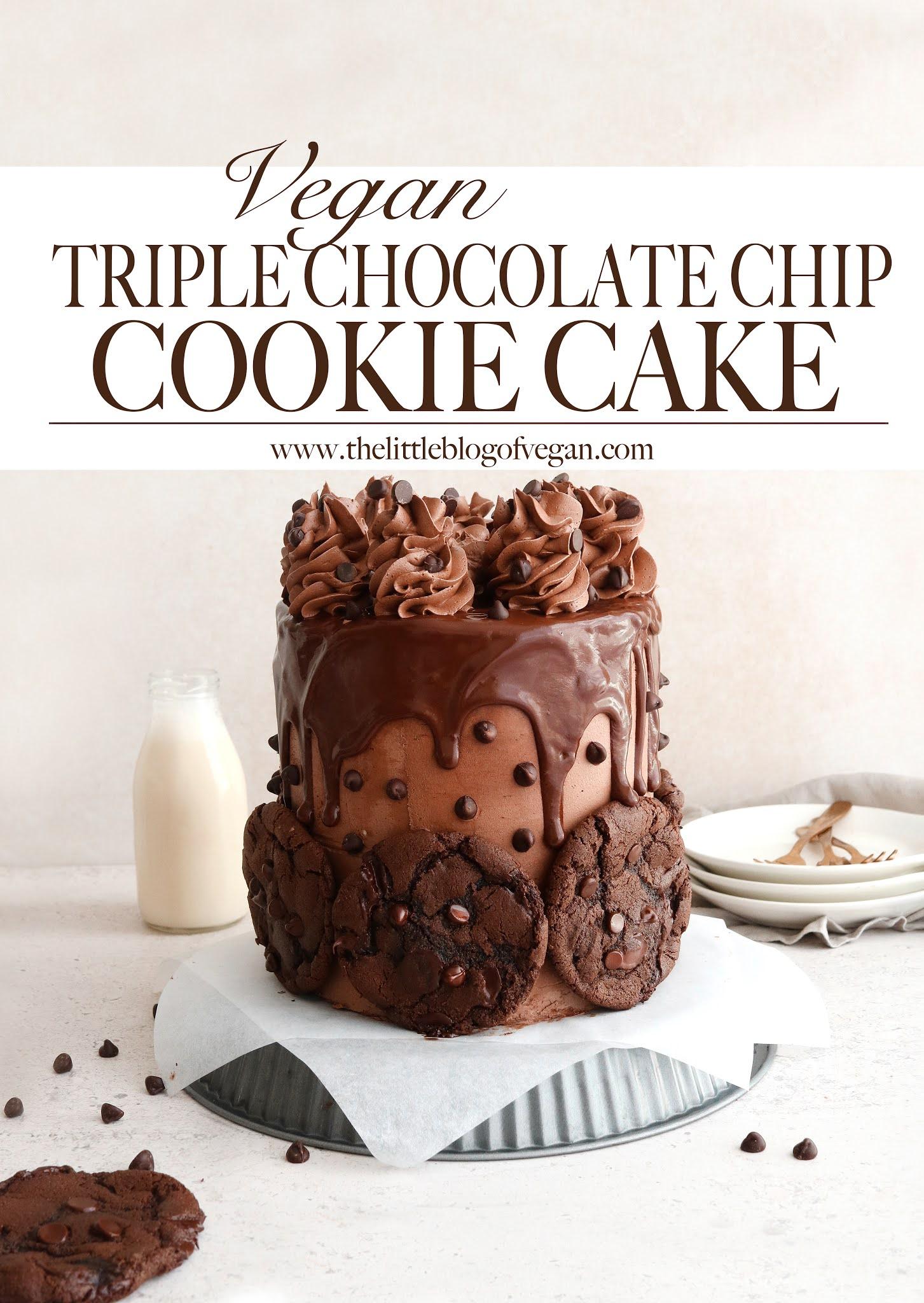 Pinterest Pin- Chocolate Cookie Cake