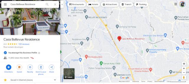 Akses Lokasi Cassa Bellevue Residence, Bintaro