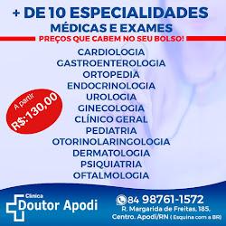 Clínica Doutor Apodi conta com preço justo e acessível com a qualidade que você merece.