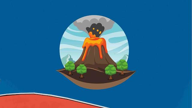 tipe letusan gunung berapi dan gambarnya