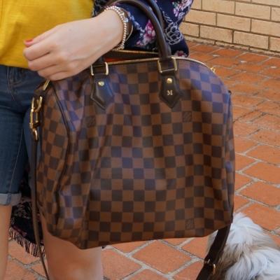 Louis Vuitton Damier Ebene 30 speedy bandouliere | awayfromtheblue