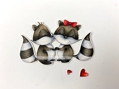 Copic Colored Image, featuring the Raccoon Smootch Digistamp from Paper Nest Dolls