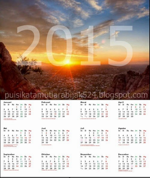 Kalimat Ucapan Kata Kata Menyambut Tahun Baru 2015