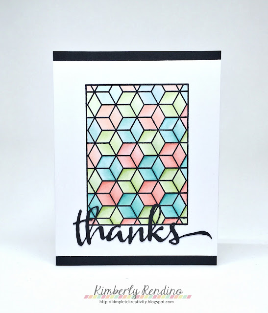 gradient coloring | thank you card | winnie & walter | kimpletekreativity.blogspot.com | cubes