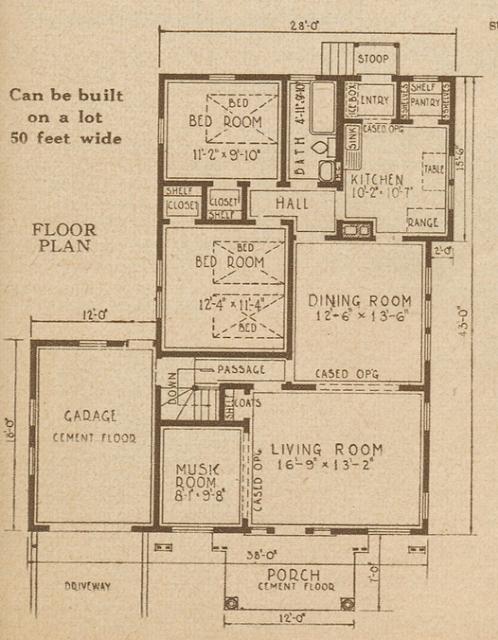 Sears Ardara model floor plan