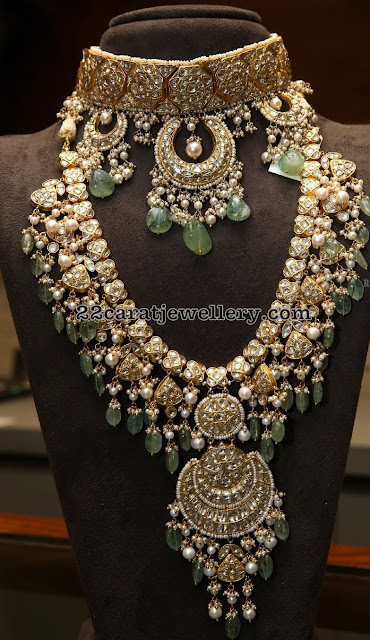 Polki Haar by Tyaani Jewellers