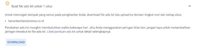 Cara Memasang Ads.txt Google Adsense