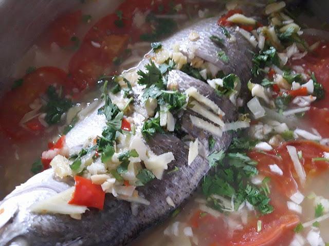 Resepi Ikan Siakap Stim Halia