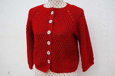 2 - Crochet imagen Chaqueta roja de mujer a crochet y ganchillo por Majovel Crochet