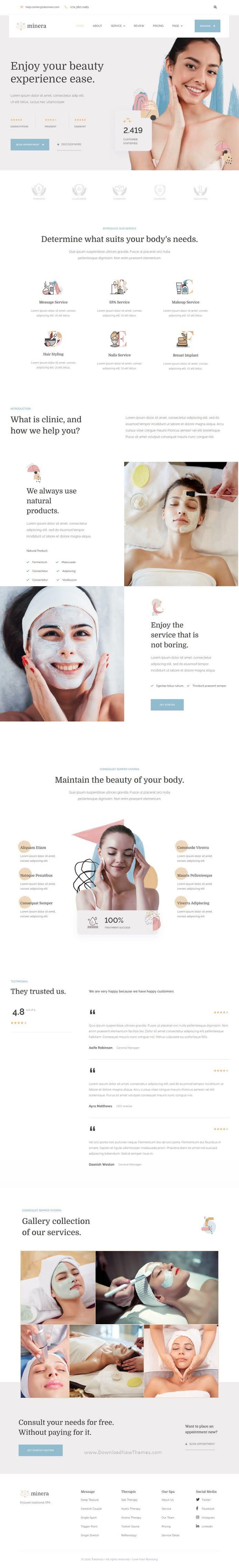 Skincare & Dermatology Elementor Template Kit