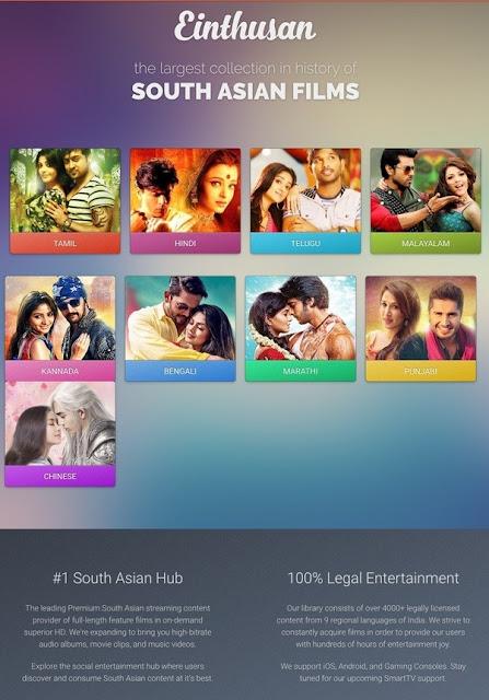 einthusan Watch latest HD Movies Tamil, Telugu, Malayalam, Bollywood & Hollywood Movies Online for free