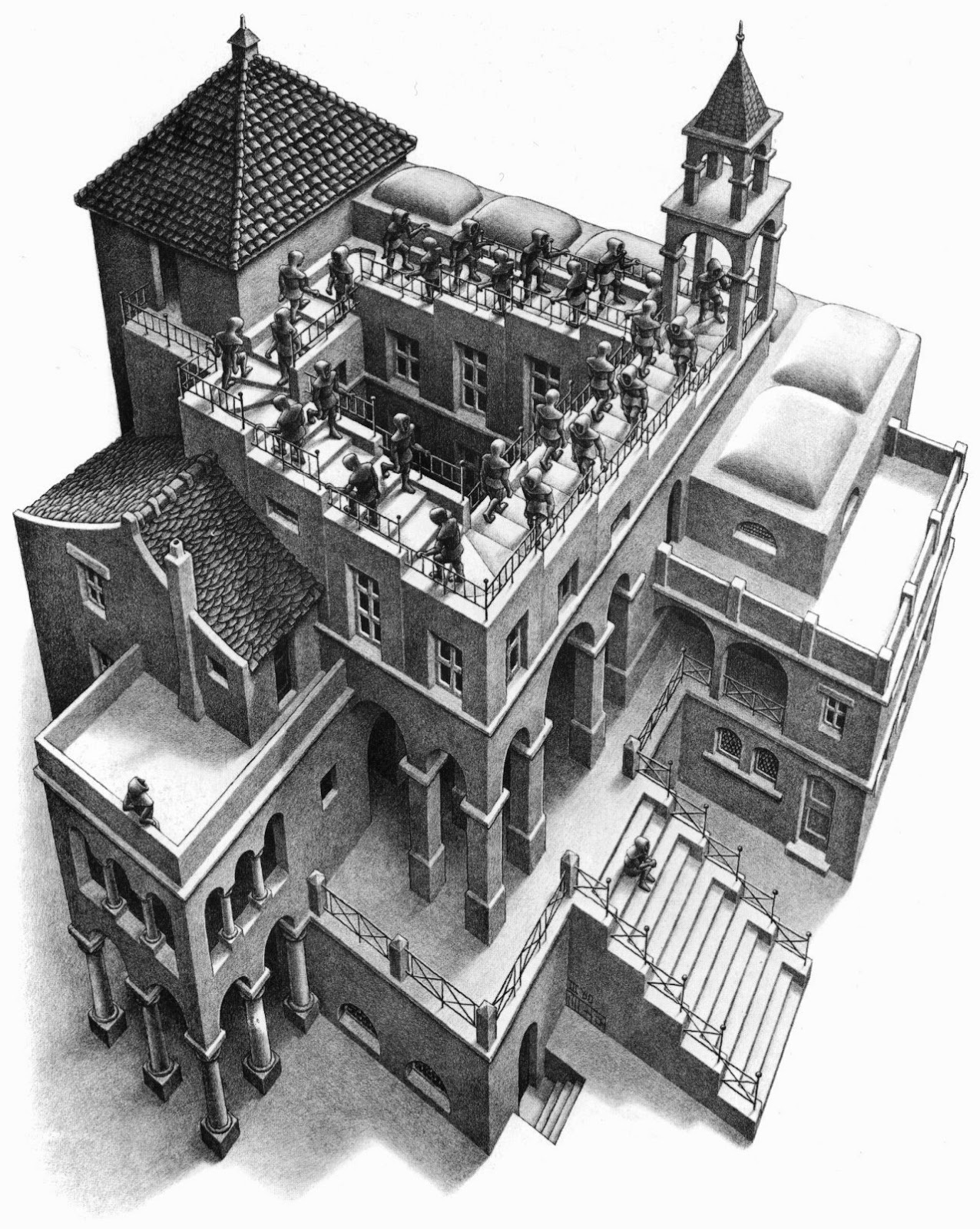 M.C. Escher, Ascending and Descending (1960)