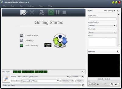 Screenshot 4Media MP4 to MP3 Converter 6.8.0.1101 Full Version