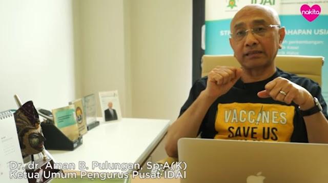 dr. Aman Ketua IDAI: Saya tidak setuju anak masuk sekolah saat ini, bakal ada 1 juta yang meninggal