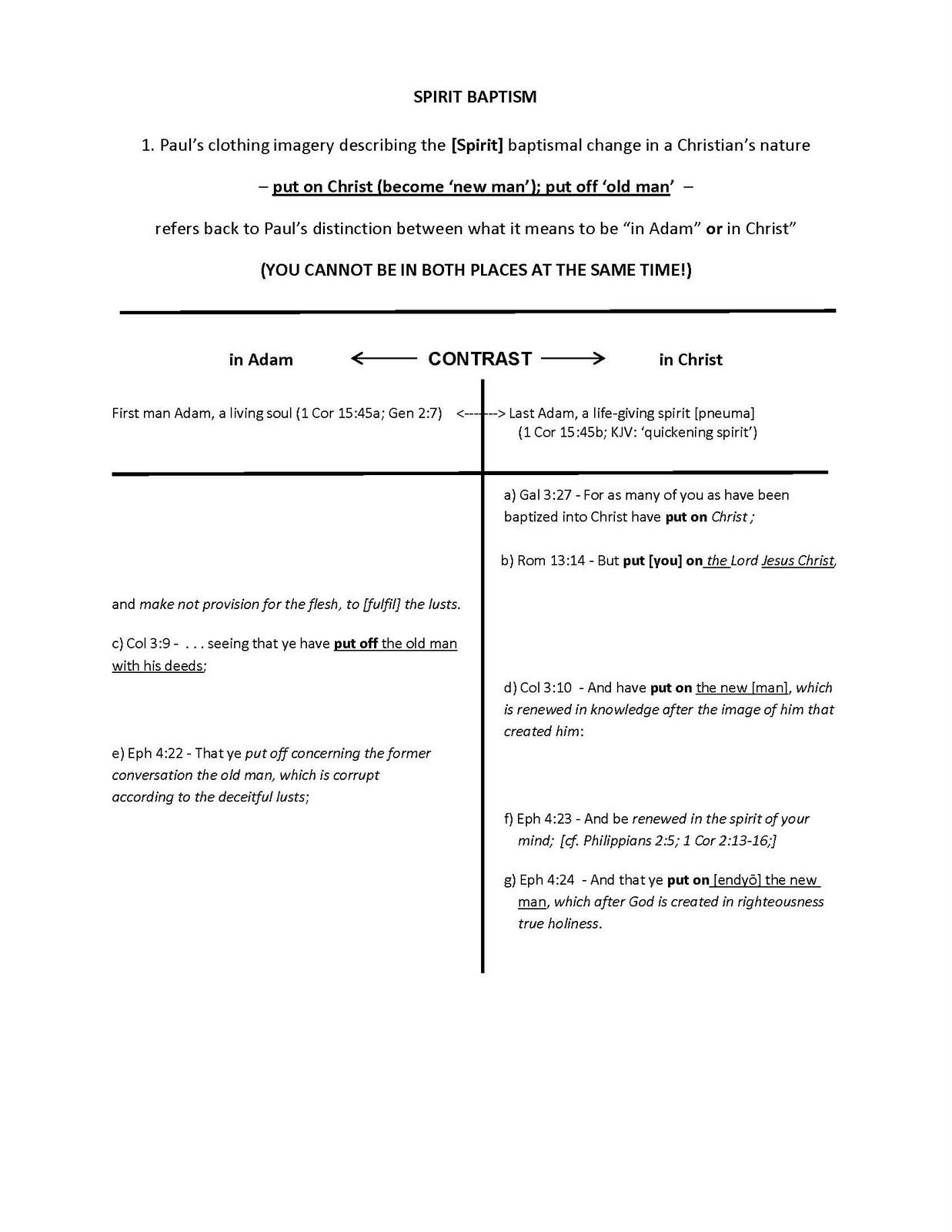 medium resolution of diagram in adam in christ table 1 spirit baptism