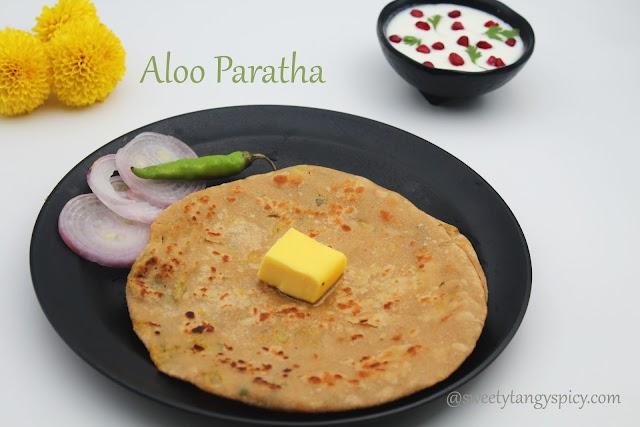 Aloo paratha - Potato stuffed flat breads