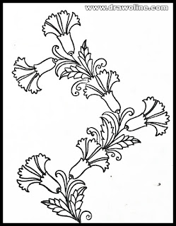 hand stitch embroidery patterns draw on paper,vintage machine embroidery patterns, Embroidery flowers design free