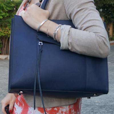 Rebecca Minkoff medium MAB tote in moon navy | away from the blue blog