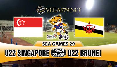 Nhận định bóng đá U22 Singapore vs U22 Brunei