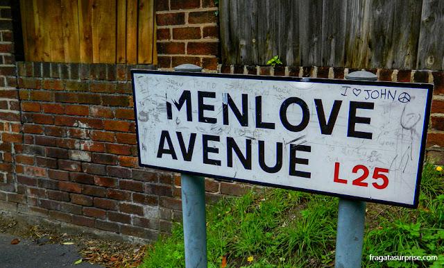 Menlove Avenue, Liverpool, onde John Lennon morou