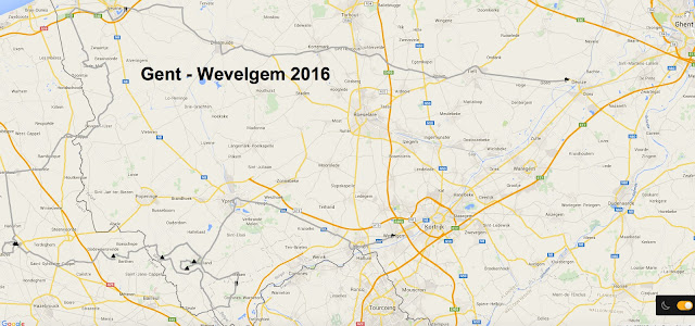 Gent - Wevelgem route map 2016