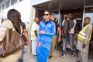 Photos: UK Rapper Chip Arrives Nigeria For IcePrince's Fire Of Zamani Concert