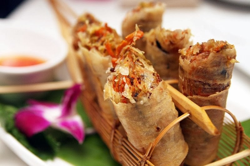 thai spring rolls silk road thai cuisine by chef cecille chang