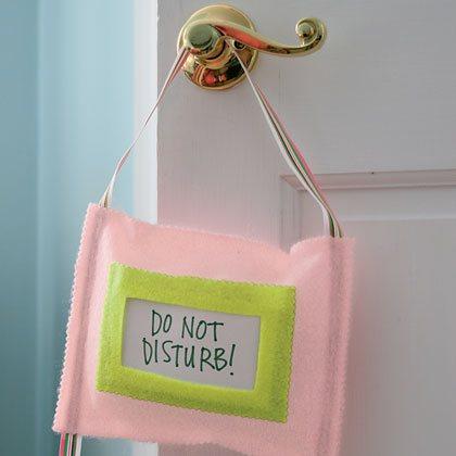 Spa Door Hanger