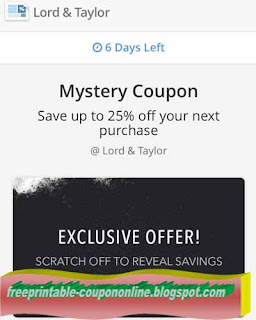 Free Printable Lord & Taylor Coupons