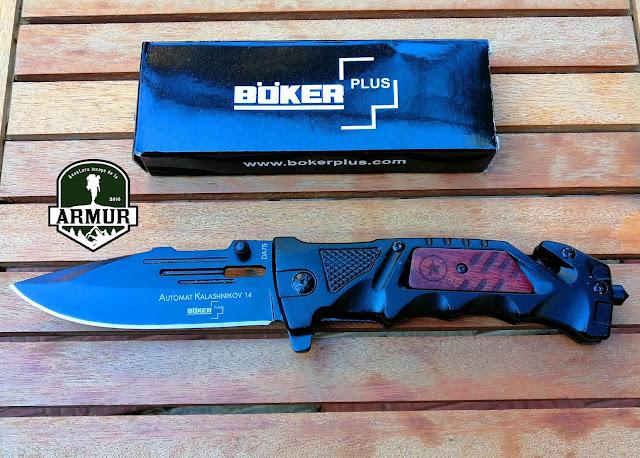 Briceag Boker DA75 Automat Kalashnikov 14 knife cutit