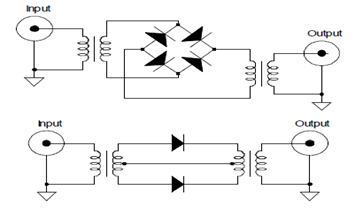 Full-Wave Frequency Doublers using Diode and Transformer Circuit Diagram