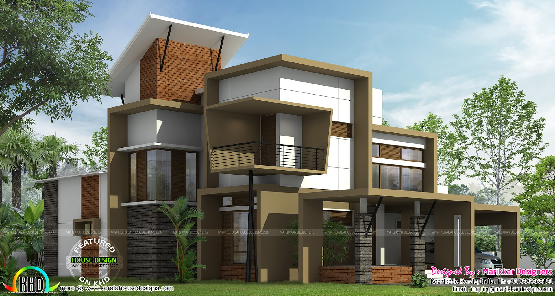 Modern ultra contemporary house kerala home design and for Contemporary floor plans for new homes