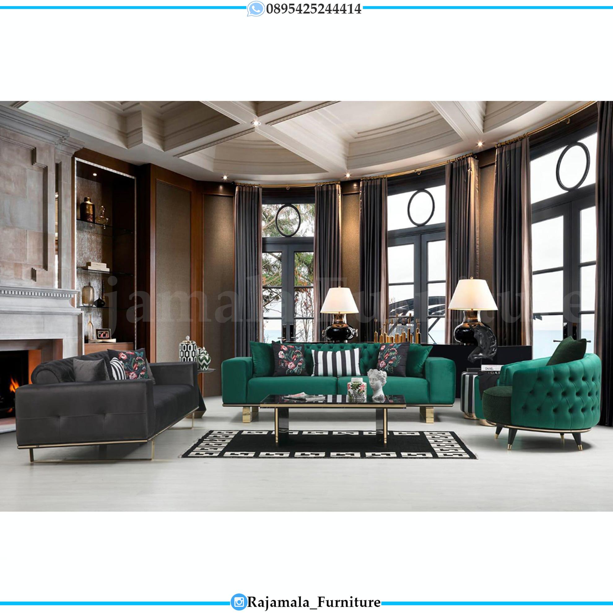 Sofa Tamu Minimalis Modern Stainless Steel Luxury Style RM-0145