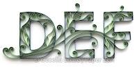 Quilling Letter D E F Monogram