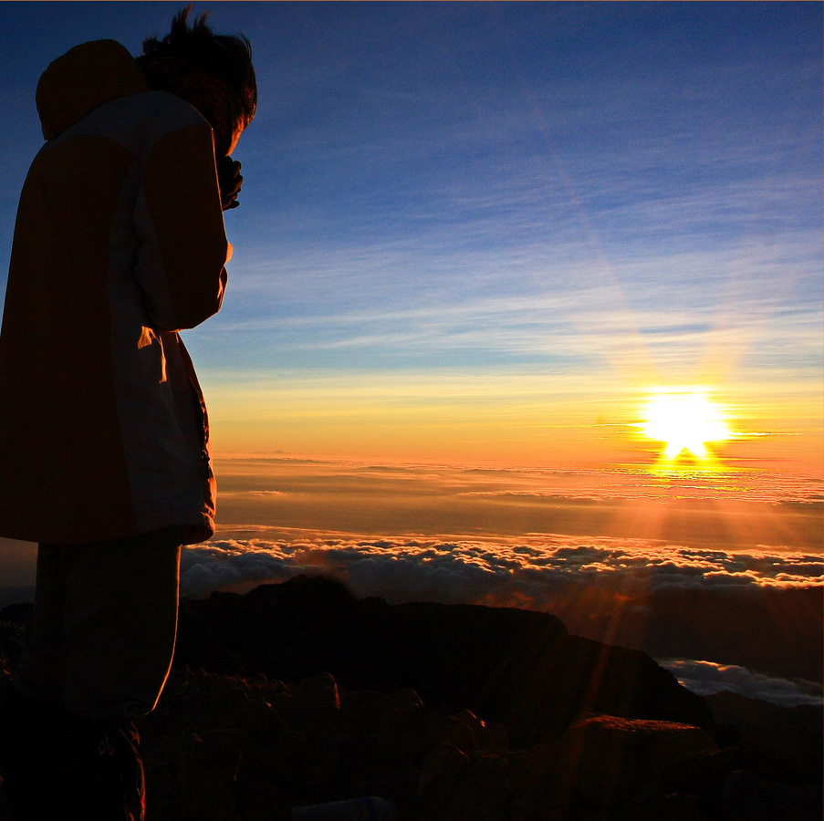 Summit 3726 meters of Mount Rinjani