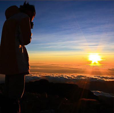 Summit 3726 meters of Mount Rinjani