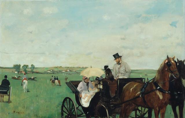 Эдгар Дега - На гонках в сельской местности (1869)