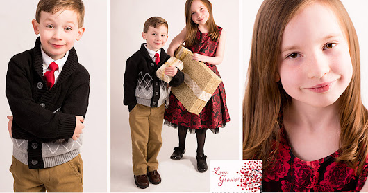 Holiday Photography in New Hampshire ~ Siblings in the studio